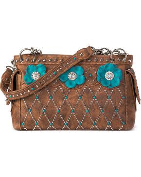 Blazin Roxx Women's Willow Pocket Satchel Handbag , Brown, hi-res