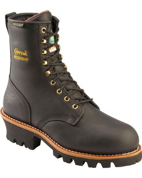Chippewa Women's Insulated Steel Toe Logger Work Boots, Black, hi-res