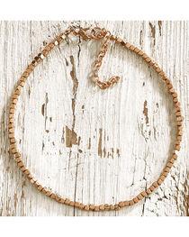 Jewelry Junkie Women's Gold Beaded Choker, , hi-res