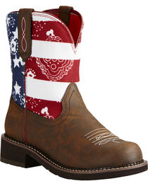 Ariat Women's Fatbaby Old Glory Heritage Western Boots, , hi-res