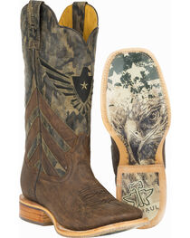 Tin Haul Sergeant at Arms Screaming Eagle Cowboy Boots - Square Toe , , hi-res