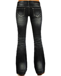 Rock & Roll Cowgirl Women's Dark Wash Low Rise Trouser Jeans, , hi-res