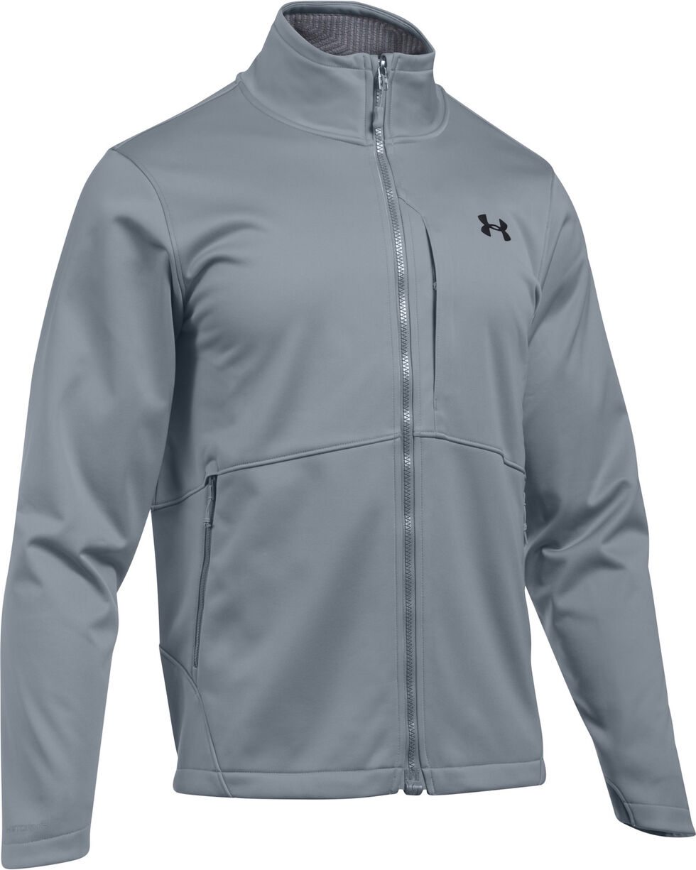 Under Armour Men's GoldGear Infrared Softershell Jacket, Charcoal Grey, hi-res