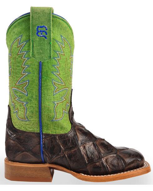 Anderson Bean Boys' Brown Filet Of Fish Print Boots - Square Toe, Brown, hi-res