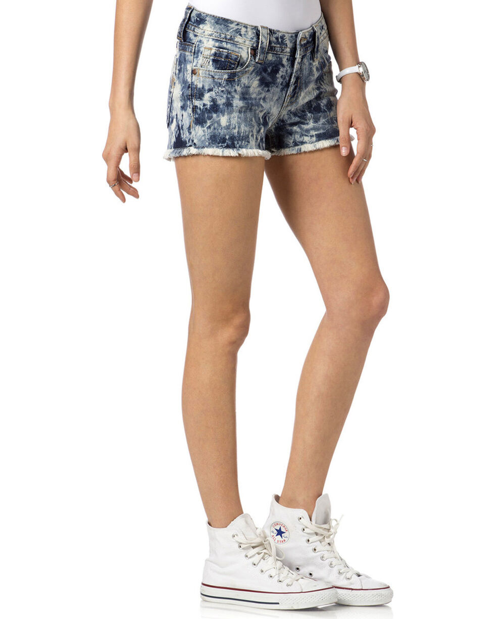 Miss Me Women's Do or Dye Mid-Rise Shorts, , hi-res