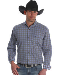 Wrangler Men's Blue 20X Advanced Comfort Competition Shirt - Tall, , hi-res