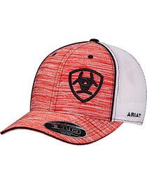 Ariat Men's Red Striped Pattern Baseball Cap , , hi-res