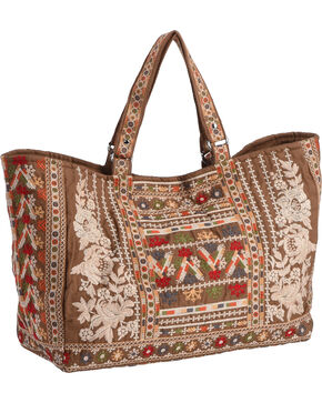 Johnny Was Women's Aliya Tote Bag , Taupe, hi-res