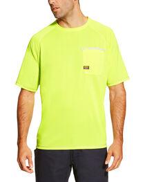Ariat Men's Rebar Sun Stopper Crew Short Sleeve Shirt, , hi-res