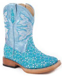 Roper Infant's Floral Glitter Western Boots, , hi-res