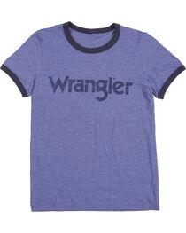 Wrangler Men's Navy Ringer Tee, , hi-res
