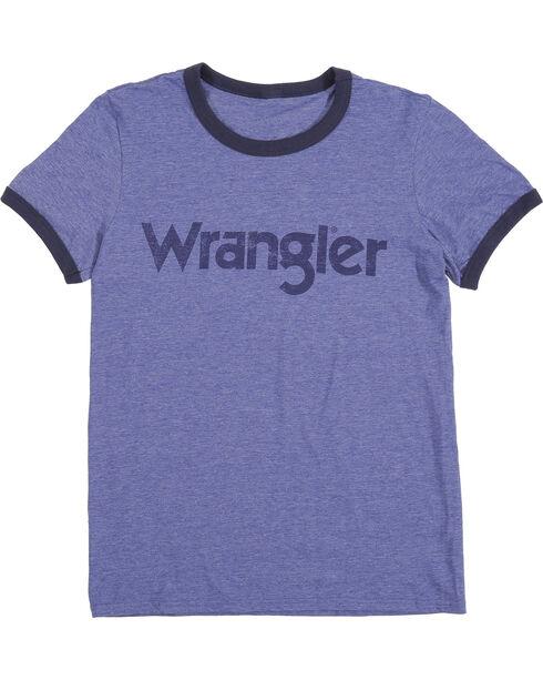 Wrangler Men's Navy Ringer Tee, Navy, hi-res
