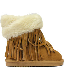 Lamo Footwear Kid's Fringe Wrap Boots, , hi-res