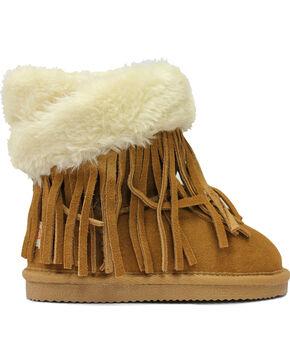 Lamo Footwear Kid's Fringe Wrap Boots - Round Toe, Chestnut, hi-res