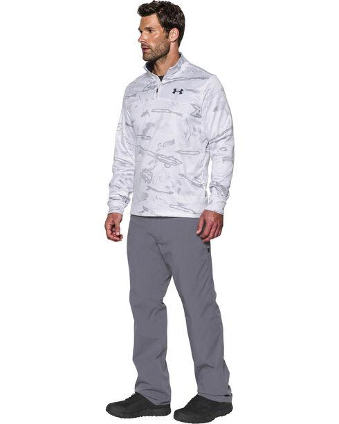 Under Armour Men's Franchise Camo 1/4 Zip Fleece Pullover , White, hi-res