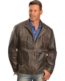 Scully Vintage Lamb Zip Front Jacket - Big & Tall, , hi-res