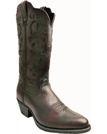 Twisted X Burgundy Western Cowgirl Boots - Round Toe, , hi-res