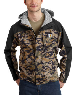 Carhartt Men's Camo Shoreline Vapor Waterproof Jacket - Big & Tall, Camouflage, hi-res