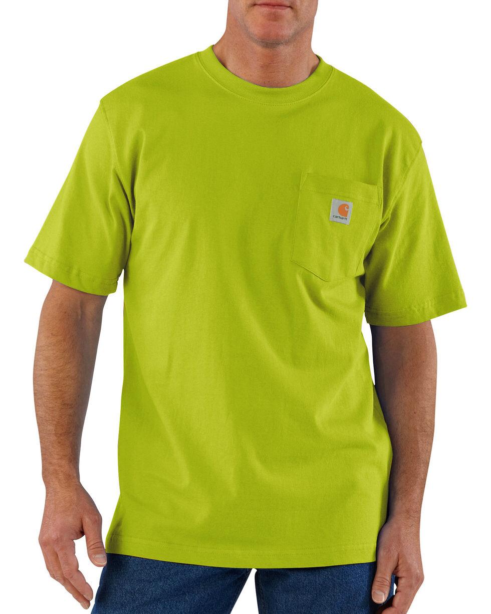 Carhartt Men's Jersey Knit Pocket Work Shirts, Green, hi-res