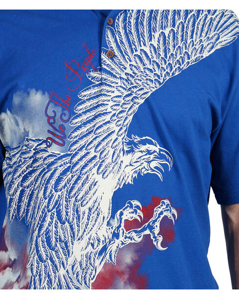 Cody James® Men's Screaming Eagle Polo, Navy, hi-res