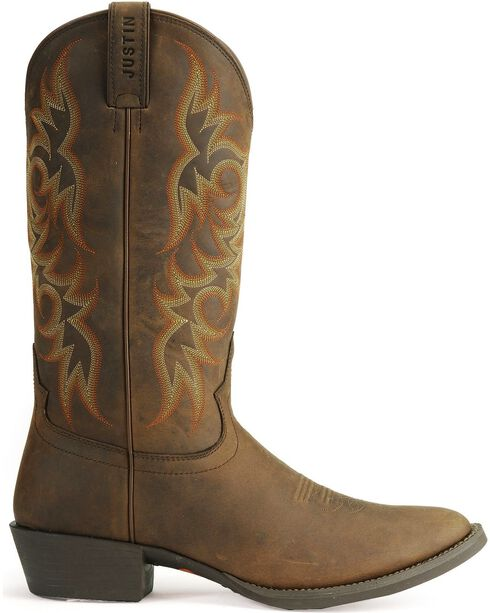 Justin Men's Stampede Western Boots, Sorrel, hi-res