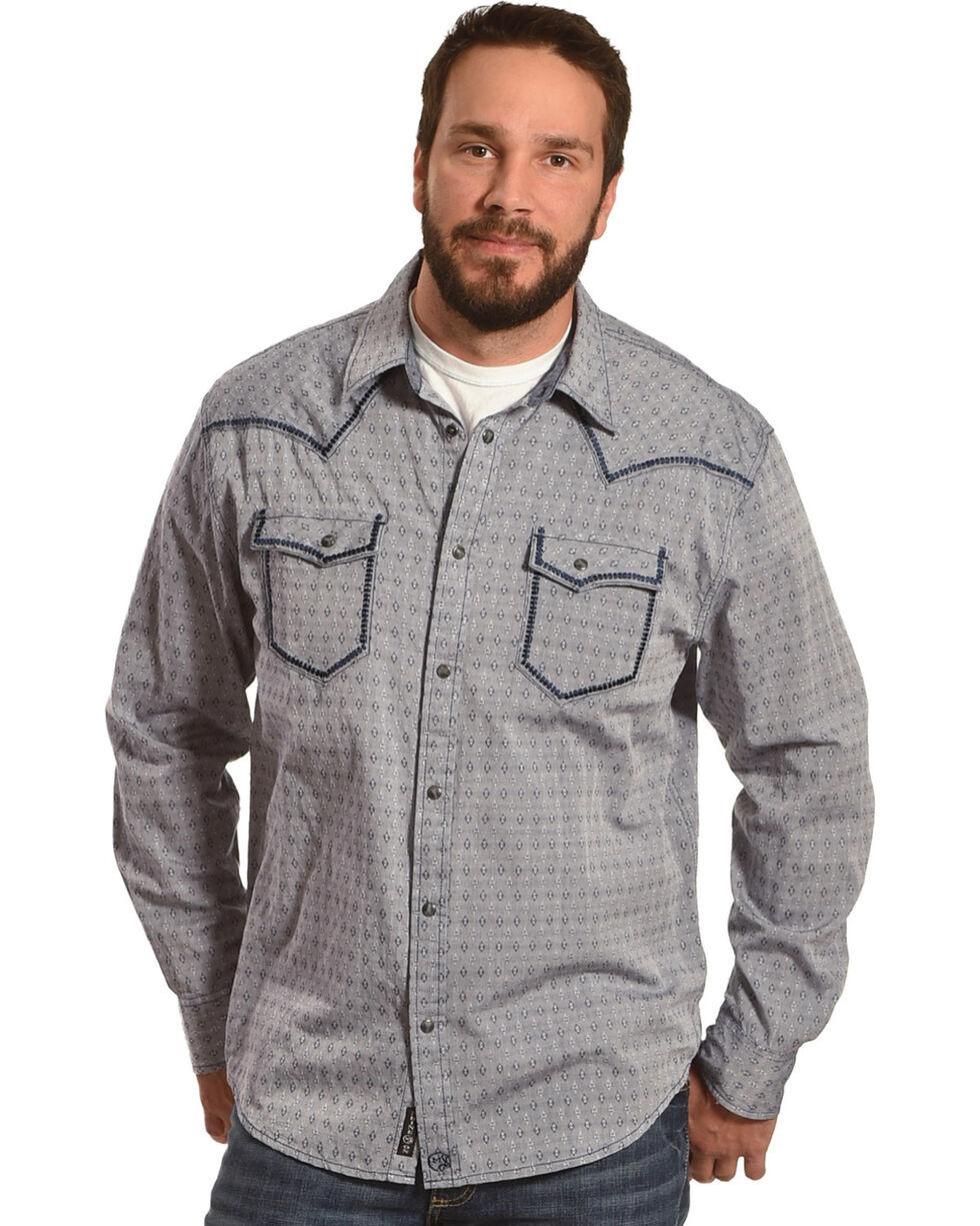 Moonshine Spirit Men's Diamond Dobby Whipstitch Western Shirt, Navy, hi-res