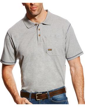 Ariat Men's Rebar Polo - Big & Tall, Grey, hi-res