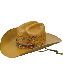 Bailey Western Men's Loaner Straw Cowboy Hat, , hi-res