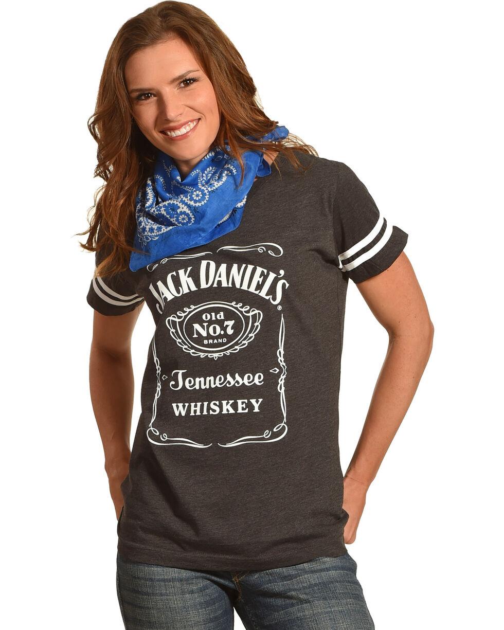 Jack Daniels Women's Grey Label Football T-Shirt , Grey, hi-res