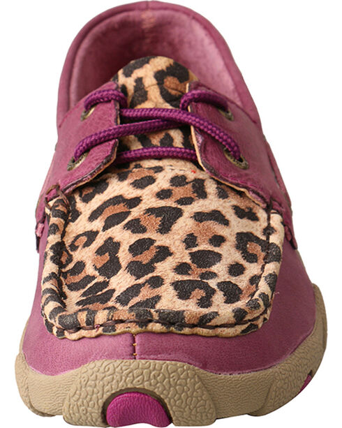 Twisted X Women's Cheetah Print Driving Mocs, Purple, hi-res