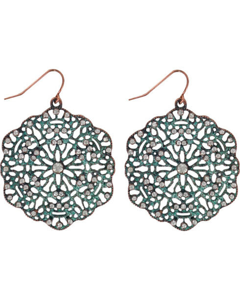Shyanne® Women's Lasercut Earrings , Turquoise, hi-res