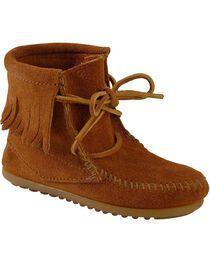 Minnetonka Girls' Ankle Tramper Moccasin Boots, , hi-res