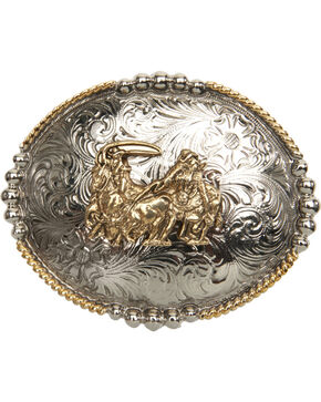 Cody James® Team Roper Belt Buckle, Multi, hi-res