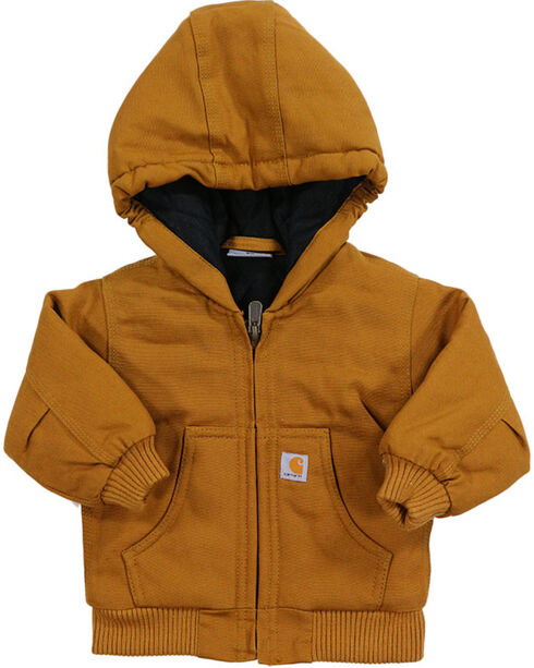 Carhartt Toddler Boys' Brown Quilted Active Jacket , Chocolate, hi-res