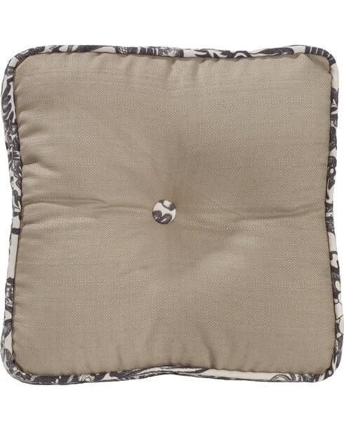 HiEnd Accents Augusta Button Boxed Pillow, Khaki, hi-res