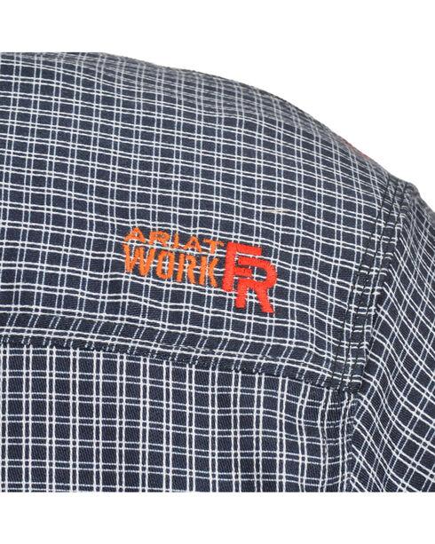 Ariat Men's Fire Resistant Plaid Long Sleeve Work Shirt, Blue, hi-res