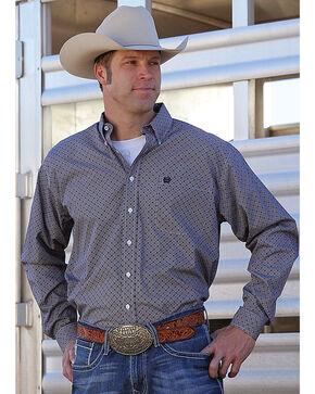 Cinch Men's Grey Plain Weave Western Shirt , Multi, hi-res
