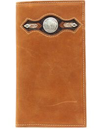 Nocona Buffalo Nickel Concho Rodeo Wallet, , hi-res