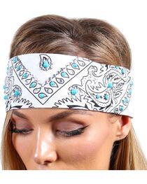 Shyanne® Women's Turquoise Studded Bandana, , hi-res