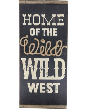 Gift Craft Cedar Wild West Wall Plaque, No Color, hi-res