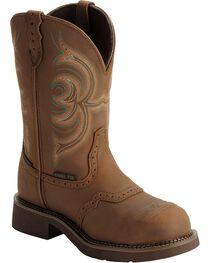 Justin Gypsy Women's Waterproof Steel Toe Work Boots, , hi-res
