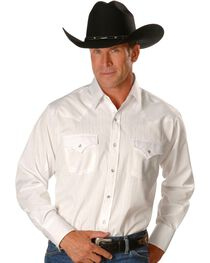 Ely Cattleman Men's Tone On Tone Western Shirt, , hi-res