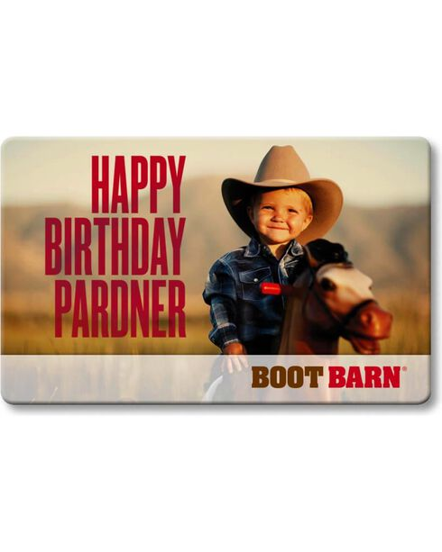 Boot Barn® Happy Birthday Pardner Gift Card, No Color, hi-res