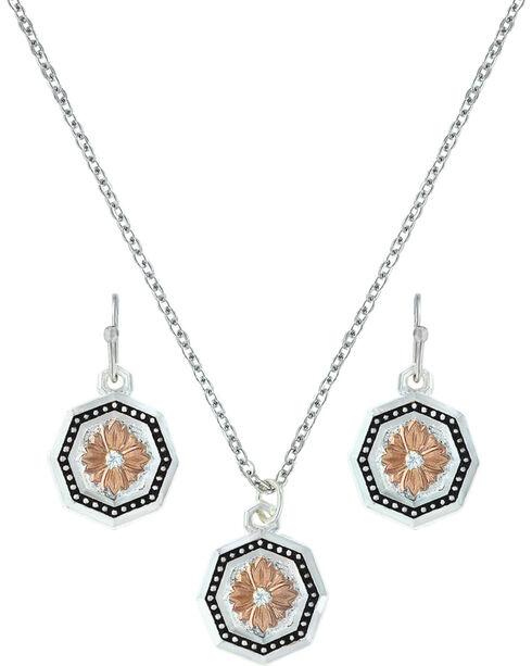 Montana Silversmiths Portrait of a Prairie Daisy Jewelry Set  , Silver, hi-res