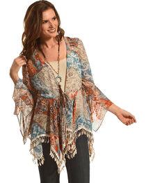 Young Essence Women's Feather Kimono, , hi-res