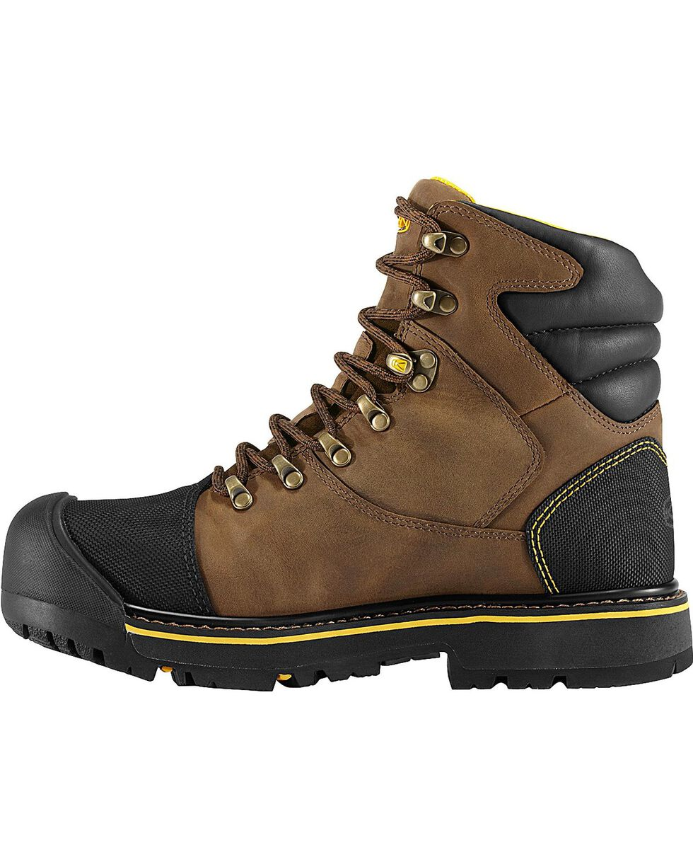 Keen Men's Milwaukee Mid Waterproof Boots - Steel Toe, Earth, hi-res