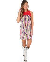 Wrangler Women's Sleeveless A Line Dress with Geometric Print, , hi-res
