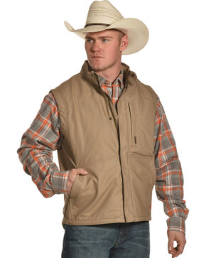 Ariat Men's FR Lined Workhorse Vest - Tall, Beige/khaki, hi-res