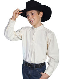 Scully Boys' Pleated Front Long Sleeve Shirt, , hi-res