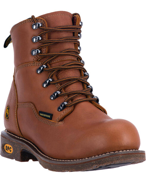 Dan Post Men's Detour Lace-Up Work Boots, Honey, hi-res